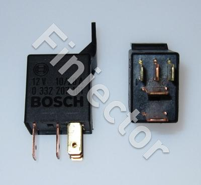 Bosch change over micro relay, 12V  20/10A, with fastening plate