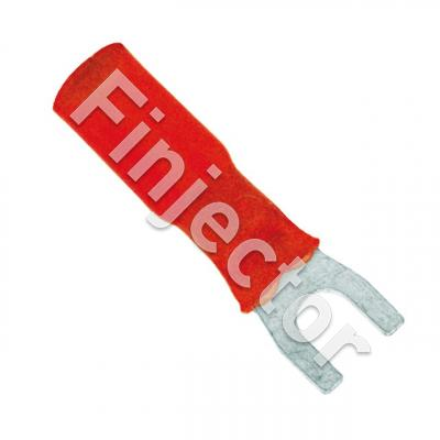 Heat shrink fork terminal 5mm red for wire size 0.5-1.0mm2