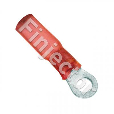 Heat shrink ring terminal 6mm red for wire size 0.5-1.0mm2