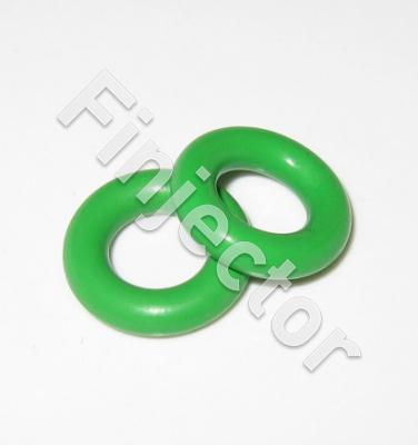 GREEN, FOR USE WITH METHANOL BOSCH \ WEBER \ DENSO  - 15MM O'' RING FOR L-JETRONIC INJEC (100)