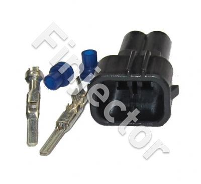 2 pole mating connector set for injector connector, Honda type