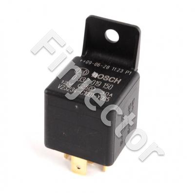 MINI-RELAY 12V / 30 A, 2 X 87, with fastening plate, BOSCH