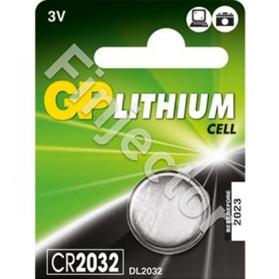 CR2032 button cell lithium battery 3.0 Volts
