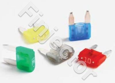 Blade fuse 25A, Mini series GM, clear