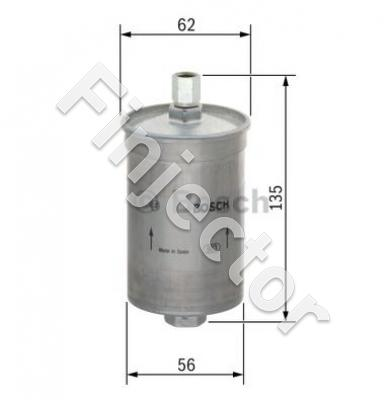 FUEL FILTER BOSCH, in M12X1.5 / out M14X1.5