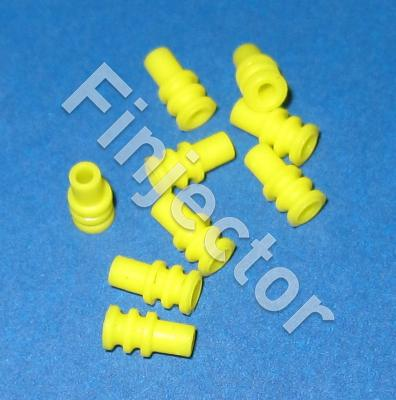 Wire seal, Junior Micro Timer, yellow, 0.75-1 mm2, 3.9 X 7.8 mm