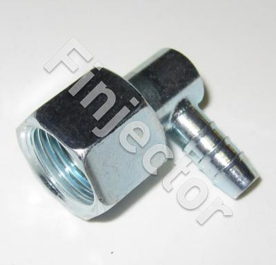 Angle piece 90° with conical nipple for 6 mm tube, nut M16X1.5