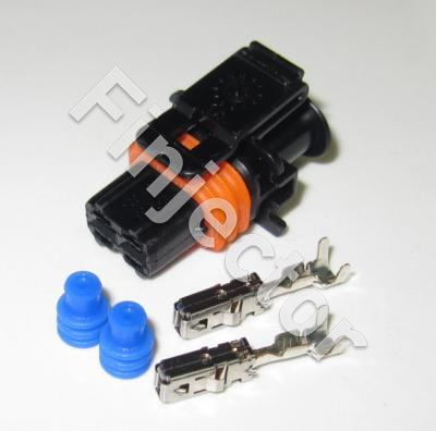 Compact connector  SET,1.1, 2 pole, Code 1, BDK 2.8, (0.5 - 1.0 mm2)