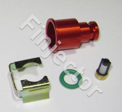 Top adapter 11 mm (rail hole diameter) with clip and filter, RED