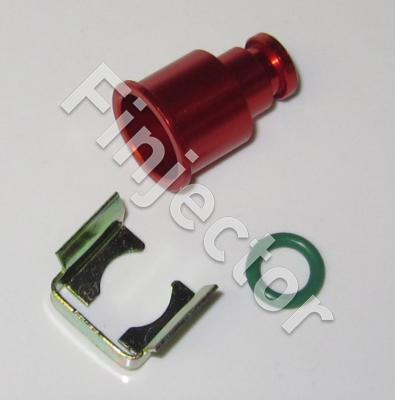 Top adapter 11 mm (rail hole diameter) with clip and seal, RED
