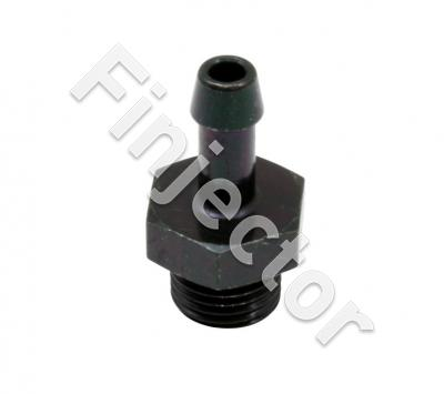 "Adjustable Fuel Pressure Regulator Barb Fitting. -6 (9/16""-18) to 7mm"
