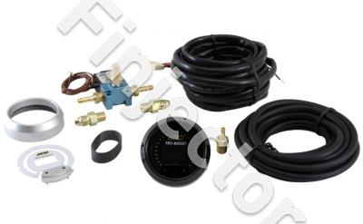 AEM Boost gauge & boost control solenoid with install kit 2 Bar