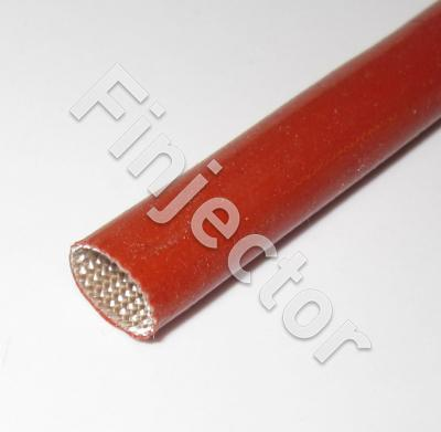 15mm Isolating Silicone Sleeve, -60 - 220°C, voltage ins. 2.5 kV