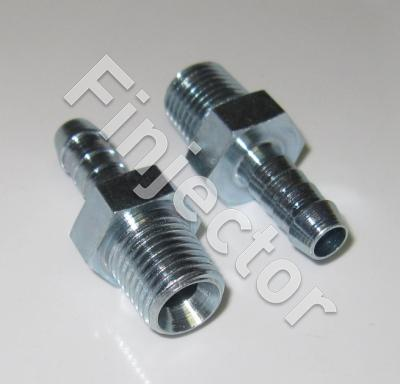 "Hose nipple with outside thread, for 7-8mm hose, 1/4"" - 18 NPTF"