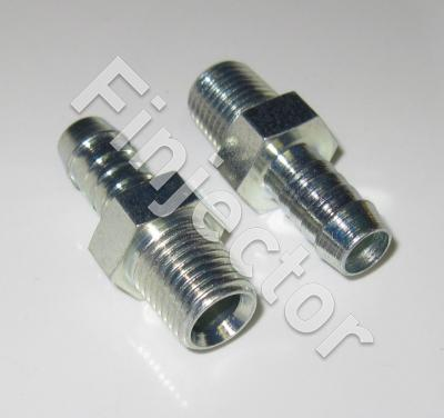 "Hose nipple with outside thread, for 9-10mm hose, 1/4"" - 18 NPTF"
