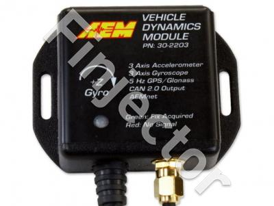 Vehicle Dynamics Module, 10HZ GPS w/ IP67-Rated Antenna, 3-Axis Accelerometer, 3-Axis Gyrometer, AEMnet CAN bus Connector