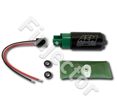 320lph E85-Compatible High Flow In-Tank Fuel Pump (65mm Short Offset Inlet, Inline). 320lph@43psi. Includes Fuel Pump, installation instructions,