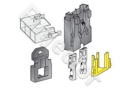 Maxi fuse holder, complete SET with cover and terminals