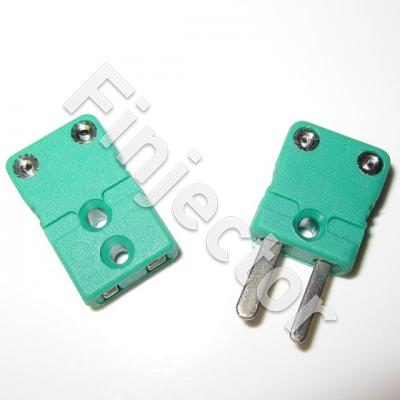 Miniature K type Thermocouple Connector In-Line Socket PAIR