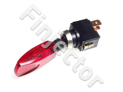 Plastic red toggle switch, ON-OFF