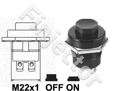 Push button switch for 22mm hole with screw terminals