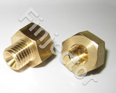 Fitting adapter M12 X 1.5 (cone) / M10X1. For sensors. Brass.