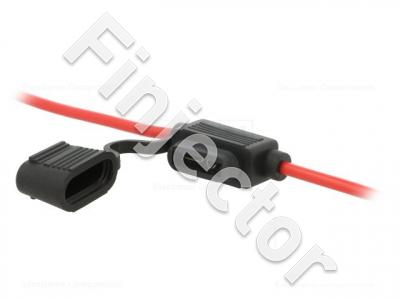 Fuse holder for GM type fuse, with 4mm² cables