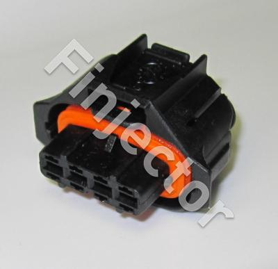 4 pole Compact connector 1.1m, Code 1, covered, BDK 2.8 (Bosch 1928403736)