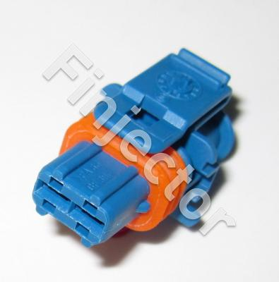2 pole Bosch Compact connector, JPT female, blue, without protective wall (Bosch 1928403126)