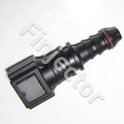 Straight quick connector for EC sensor, 9.49mm pipe / 8 mm hose