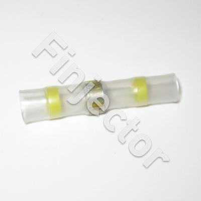 Shrink butt splice, Yellow, for 6 mm wire