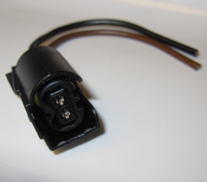 2 pole connectorSET with 10cm pigtails, for Common Rail injector